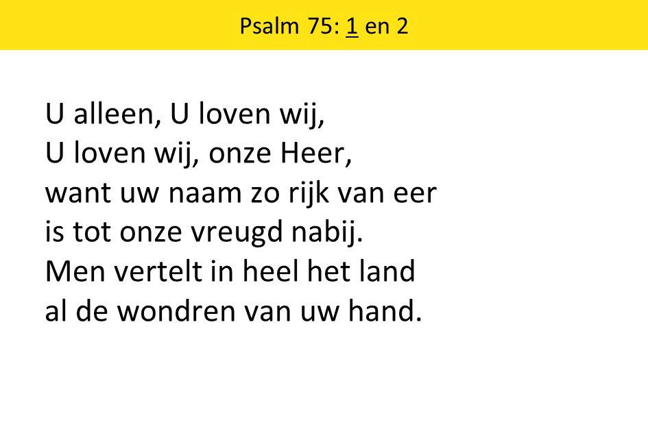 Psalm 75: 1 en 2