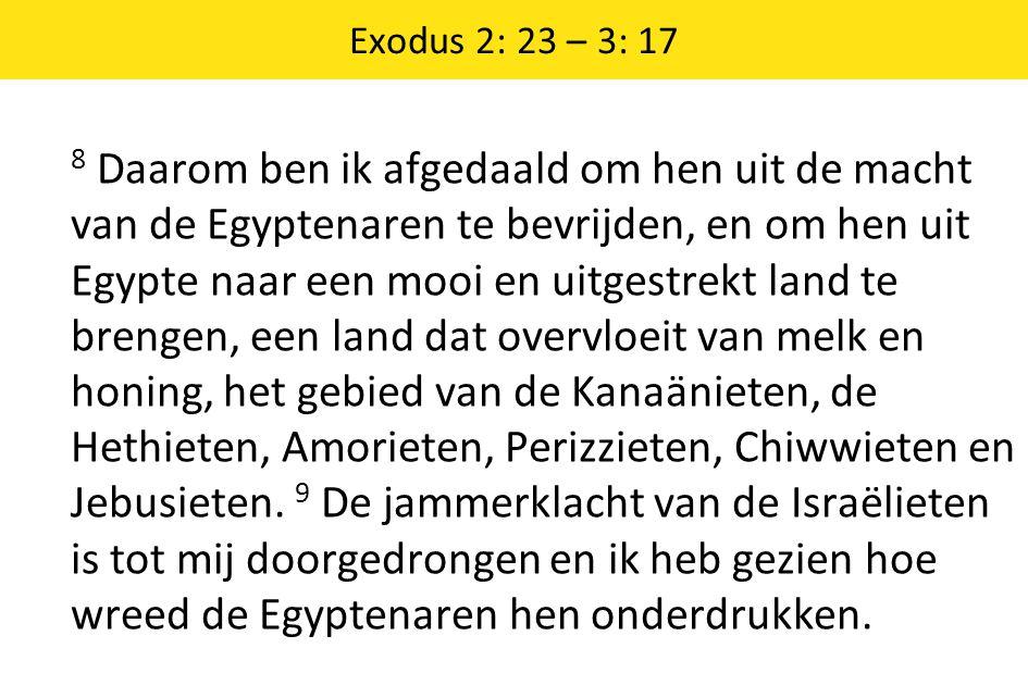 Exodus 2: 23 – 3: 17