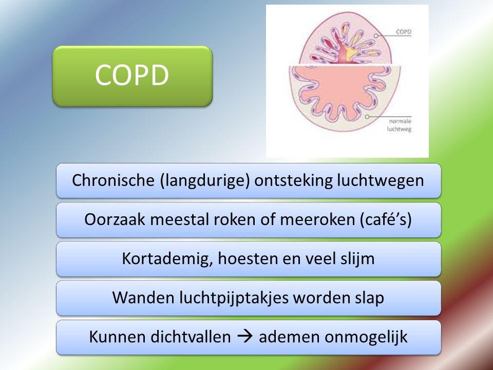 COPD Chronische (langdurige) ontsteking luchtwegen