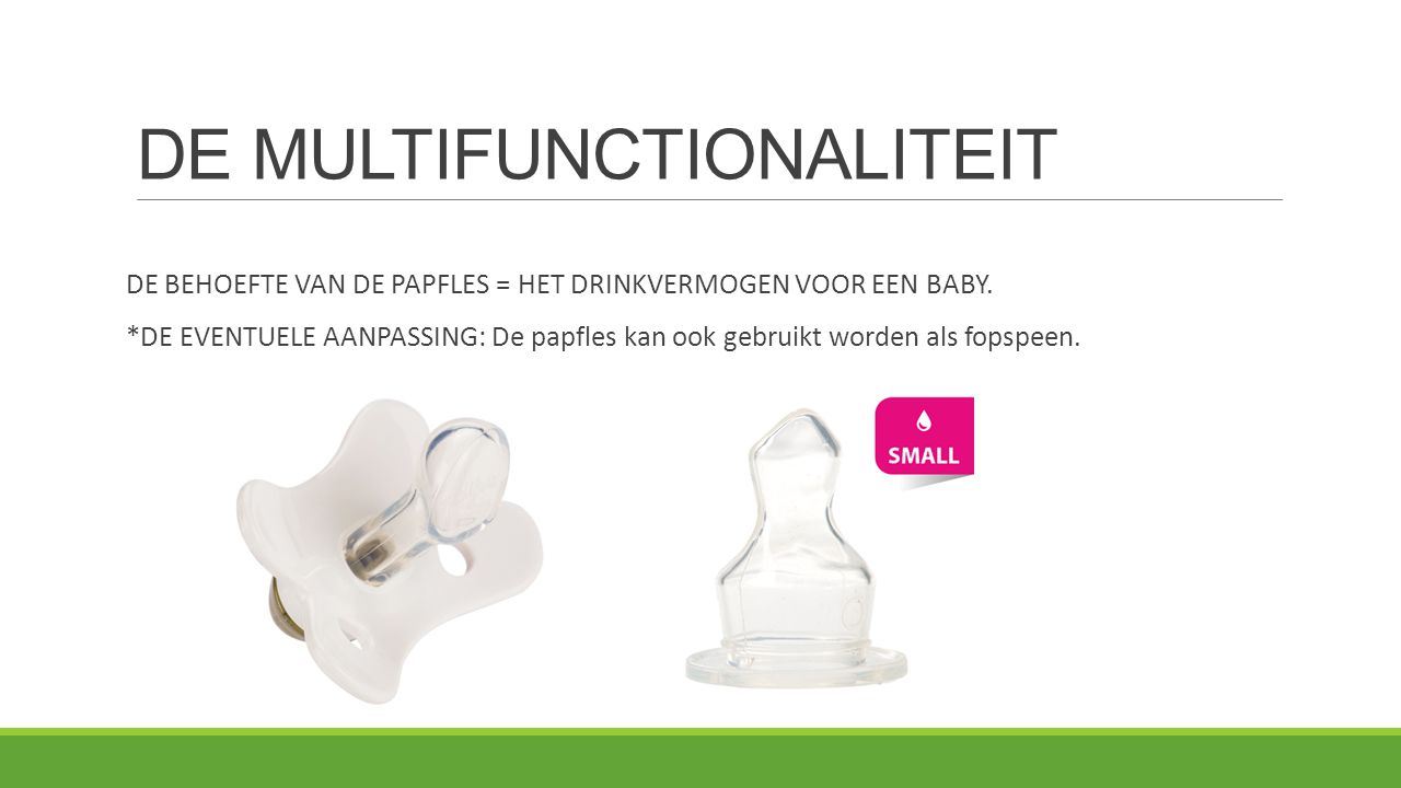 DE MULTIFUNCTIONALITEIT
