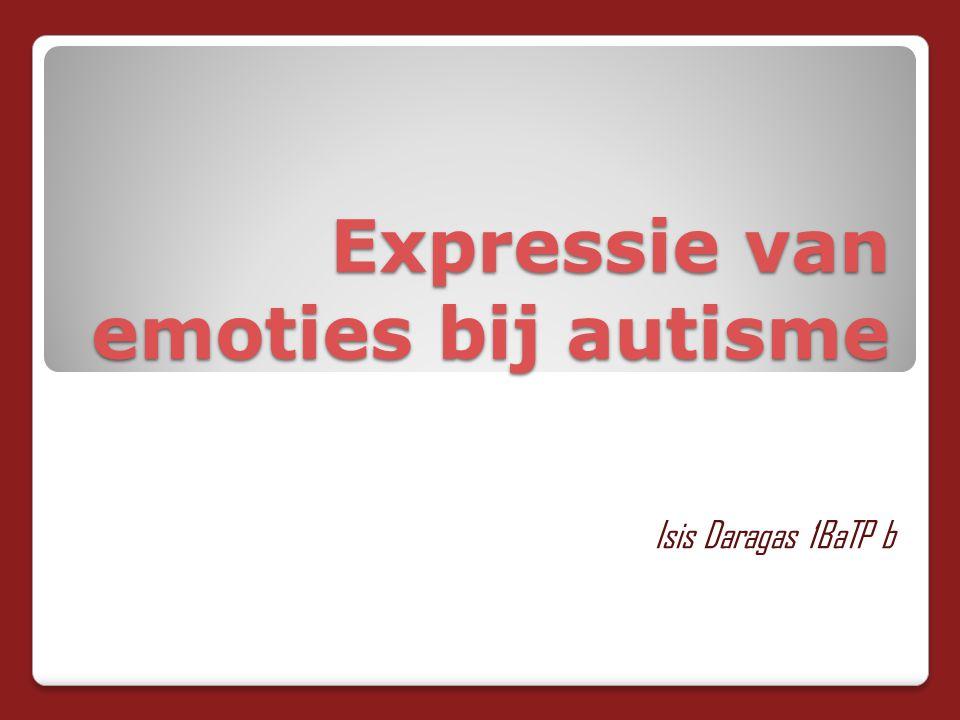 Expressie van emoties bij autisme