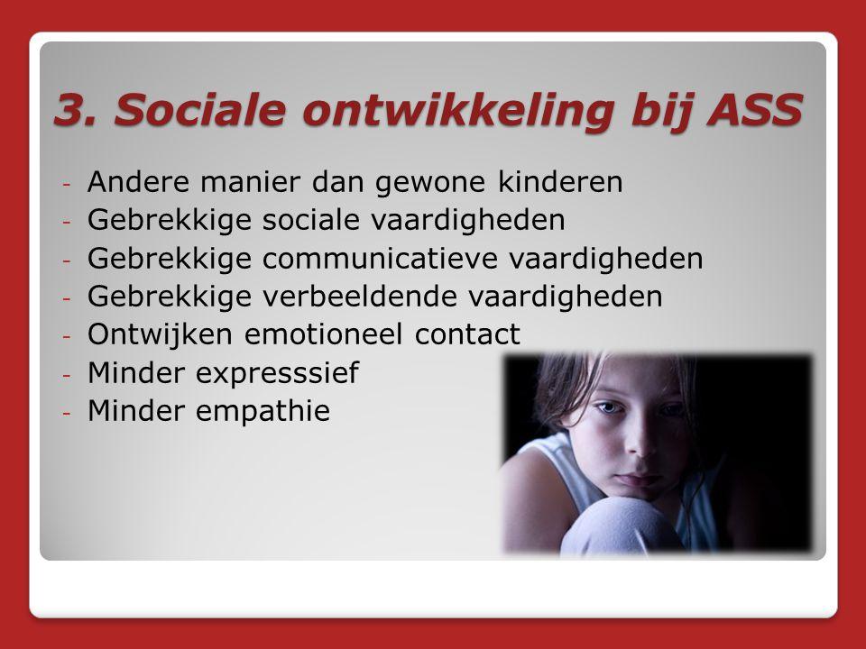 3. Sociale ontwikkeling bij ASS