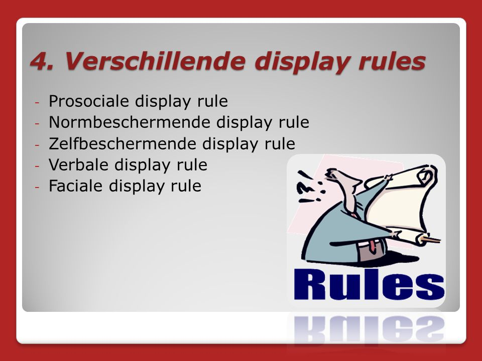 4. Verschillende display rules