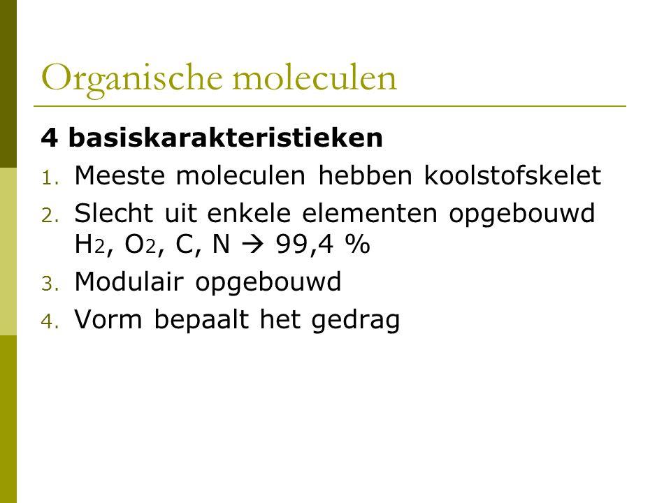 Organische moleculen 4 basiskarakteristieken