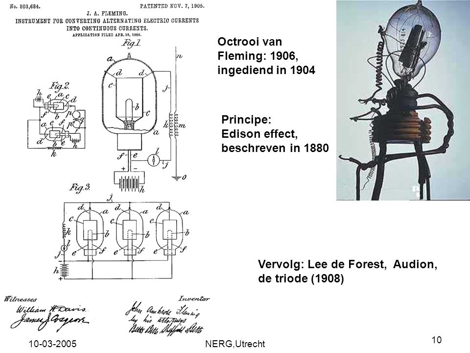 Vervolg: Lee de Forest, Audion, de triode (1908)