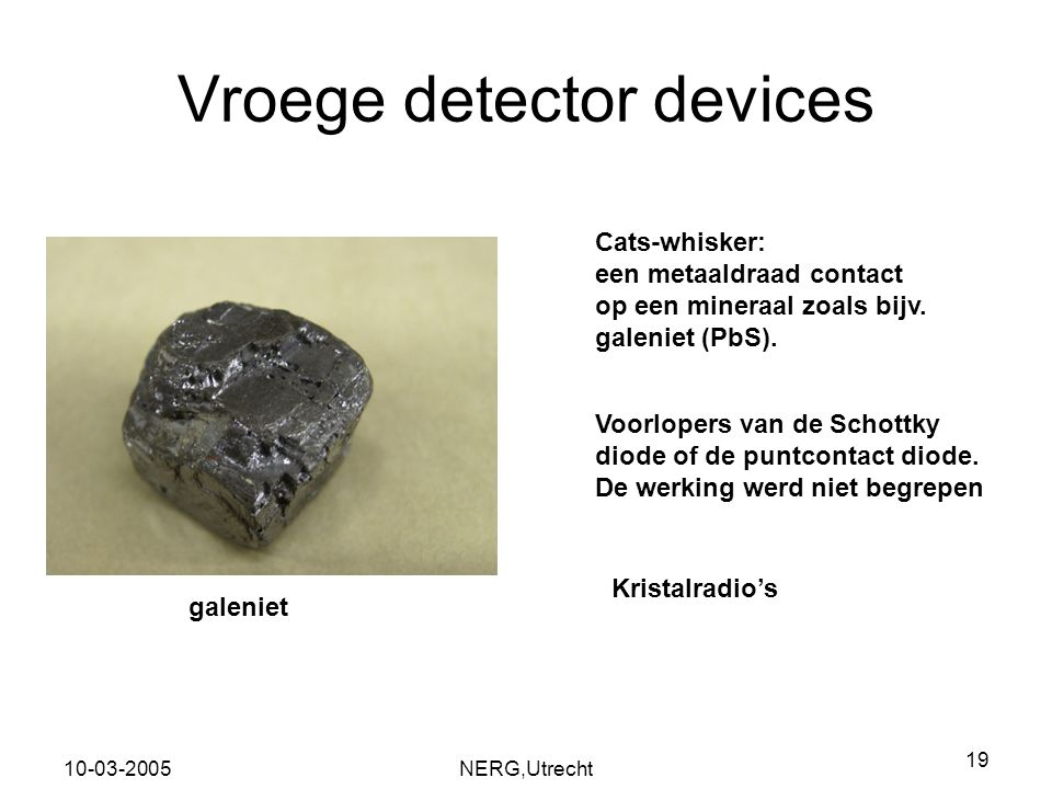 Vroege detector devices