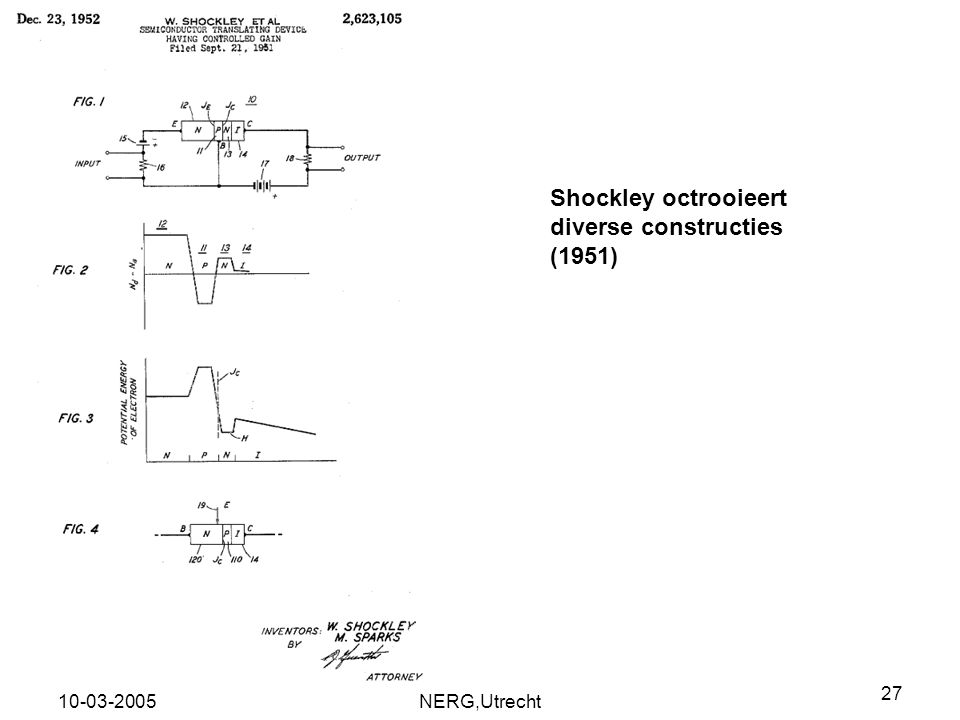 Shockley octrooieert diverse constructies (1951)