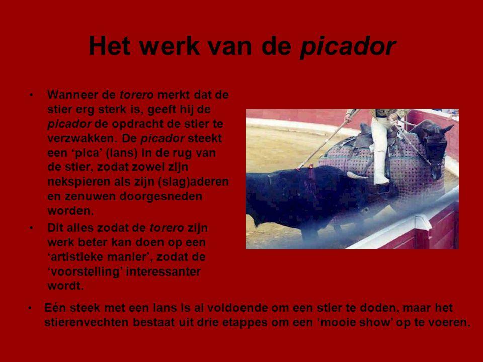 Het werk van de picador