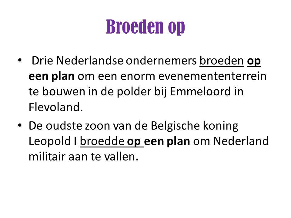 Broeden op Drie Nederlandse ondernemers broeden op een plan om een enorm evenemententerrein te bouwen in de polder bij Emmeloord in Flevoland.
