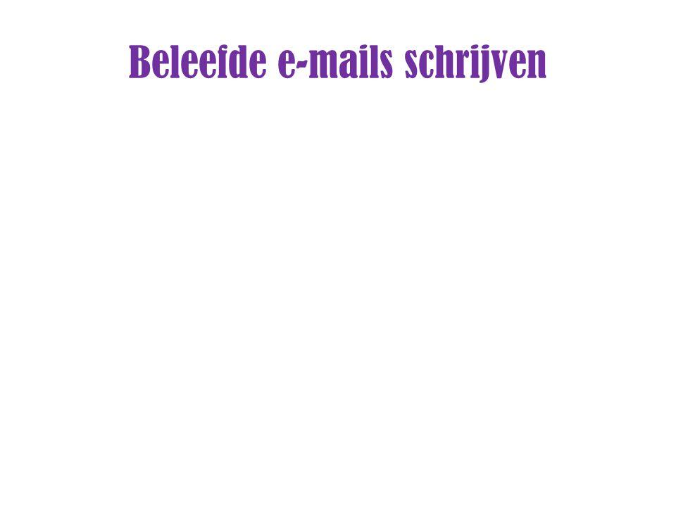 Beleefde e-mails schrijven
