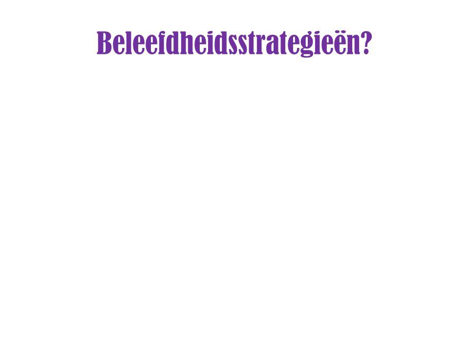 Beleefdheidsstrategieën