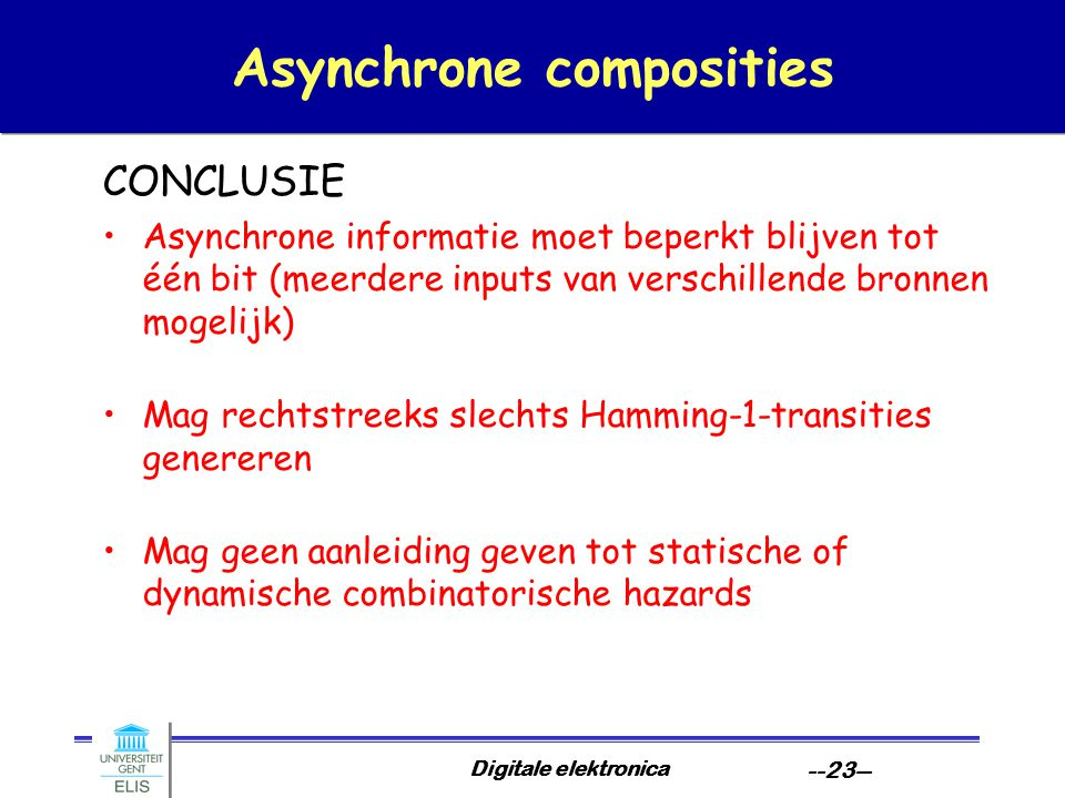 Asynchrone composities