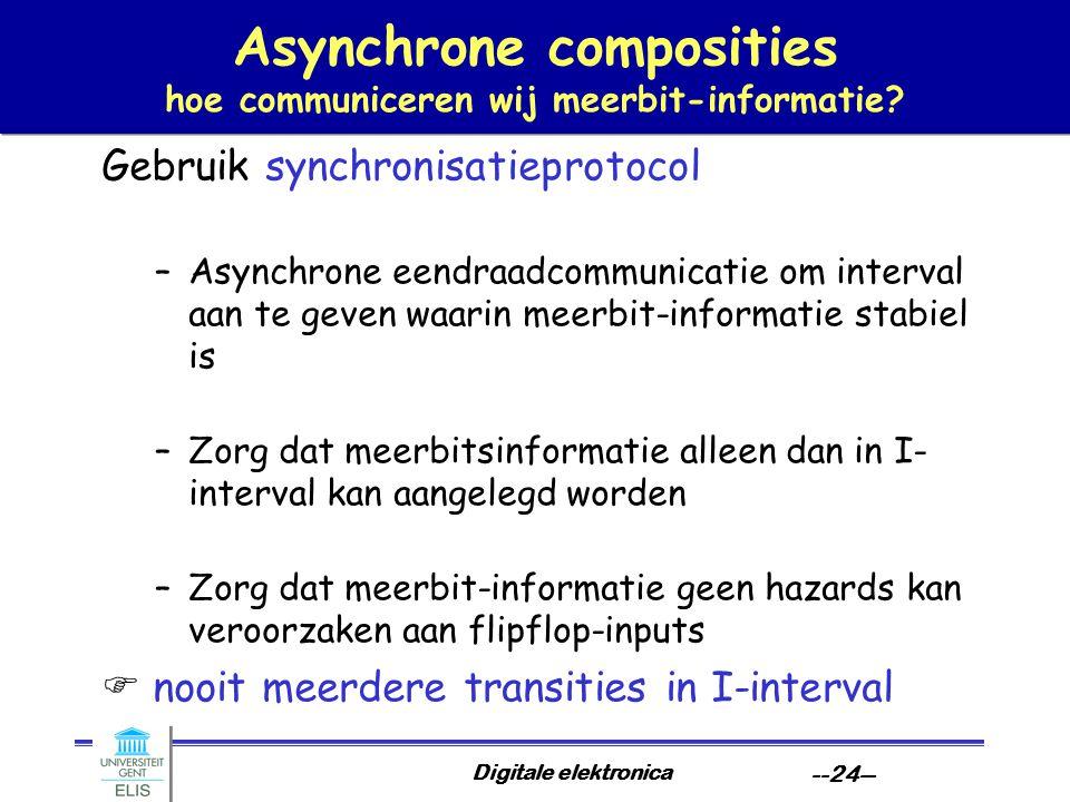 Asynchrone composities hoe communiceren wij meerbit-informatie