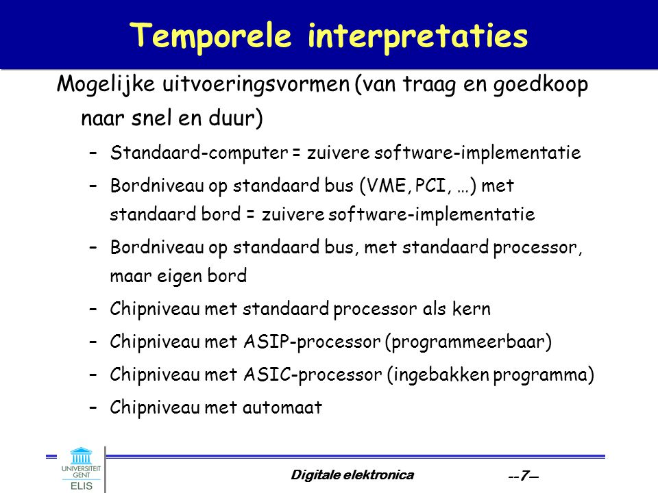 Temporele interpretaties