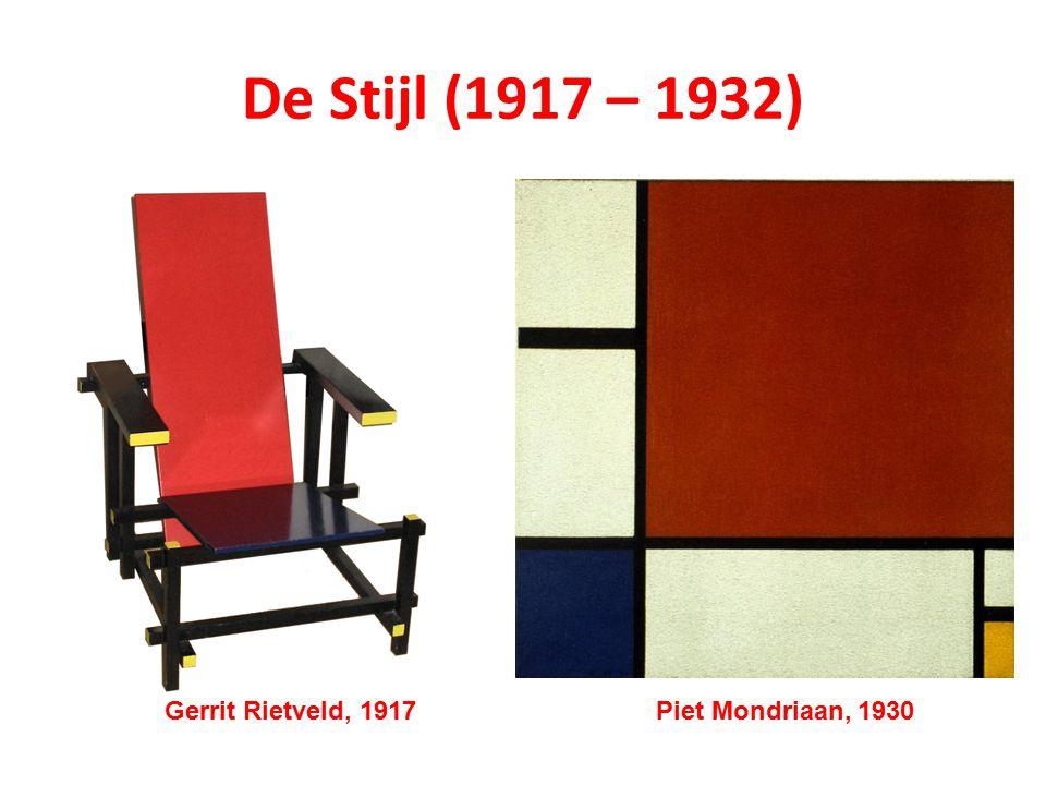 De Stijl (1917 – 1932) Gerrit Rietveld, 1917 Piet Mondriaan, 1930