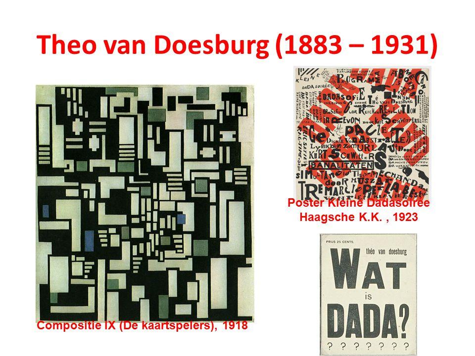 Poster Kleine Dadasoirée Haagsche K.K. , 1923