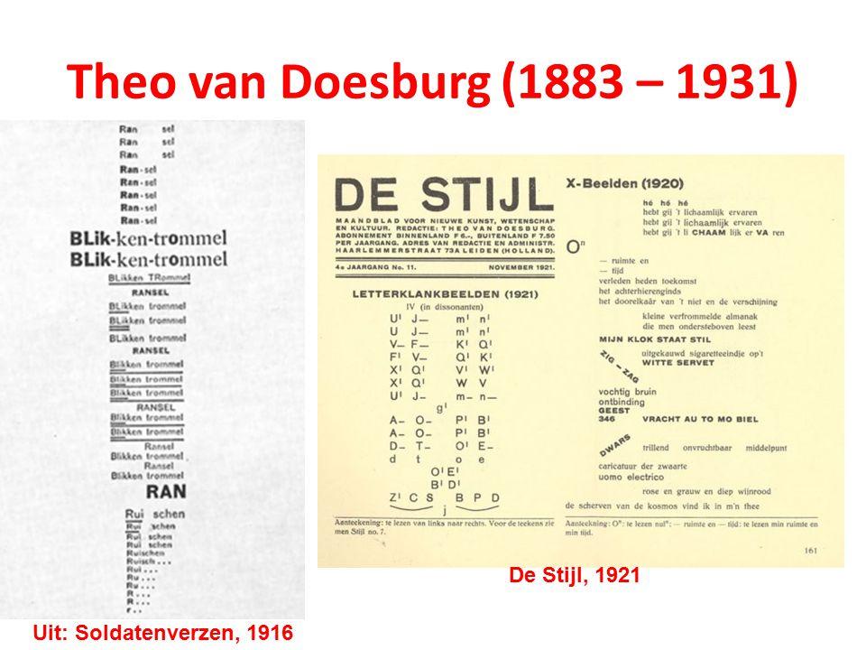 Theo van Doesburg (1883 – 1931) De Stijl, 1921