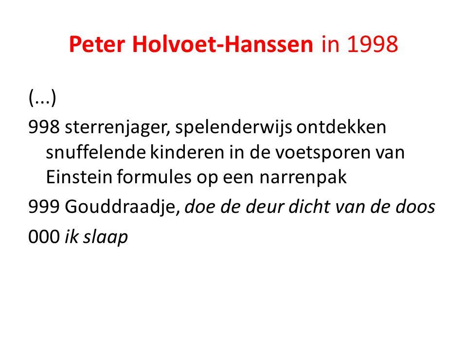 Peter Holvoet-Hanssen in 1998