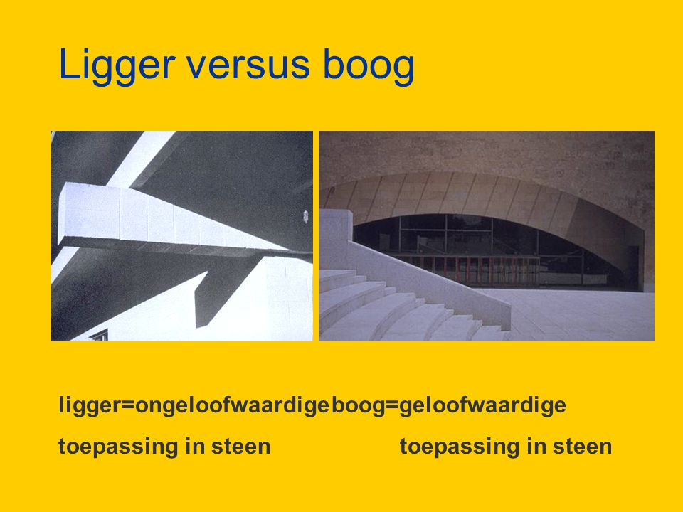 Ligger versus boog ligger=ongeloofwaardige boog=geloofwaardige