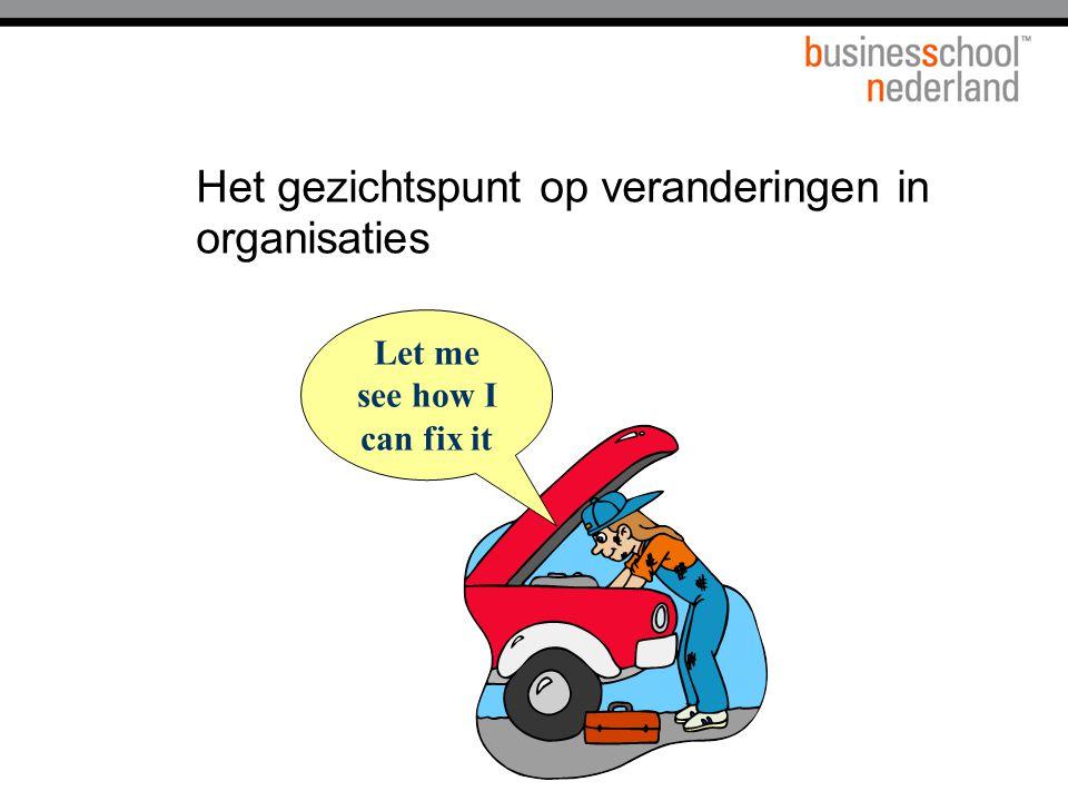 Het gezichtspunt op veranderingen in organisaties