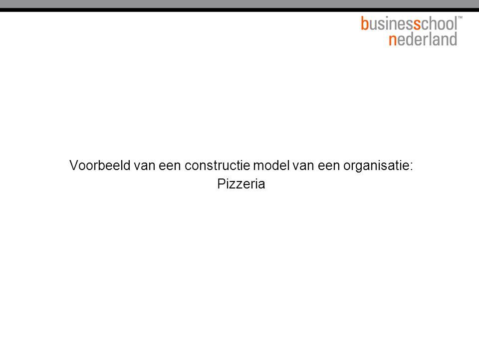 Voorbeeld van een constructie model van een organisatie: