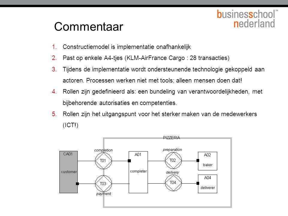 Commentaar Constructiemodel is implementatie onafhankelijk