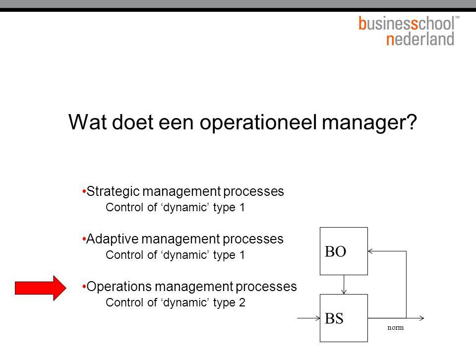 Wat doet een operationeel manager