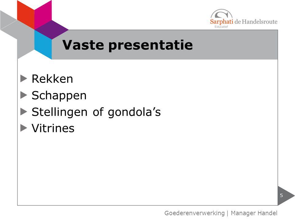 Vaste presentatie Rekken Schappen Stellingen of gondola's Vitrines