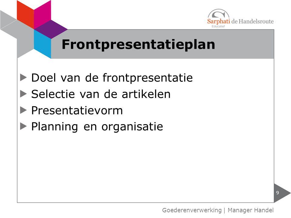 Frontpresentatieplan