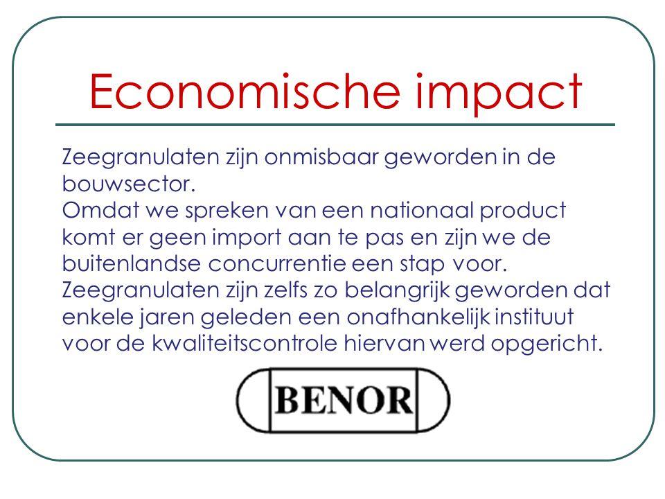 Economische impact Zeegranulaten zijn onmisbaar geworden in de bouwsector.