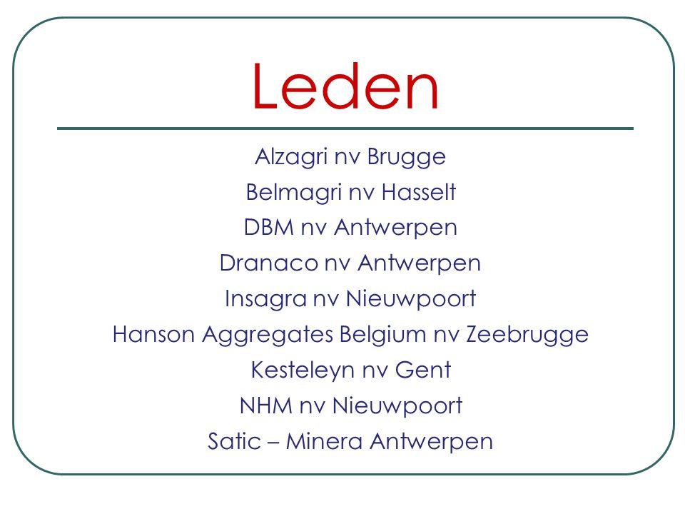 Leden Alzagri nv Brugge Belmagri nv Hasselt DBM nv Antwerpen