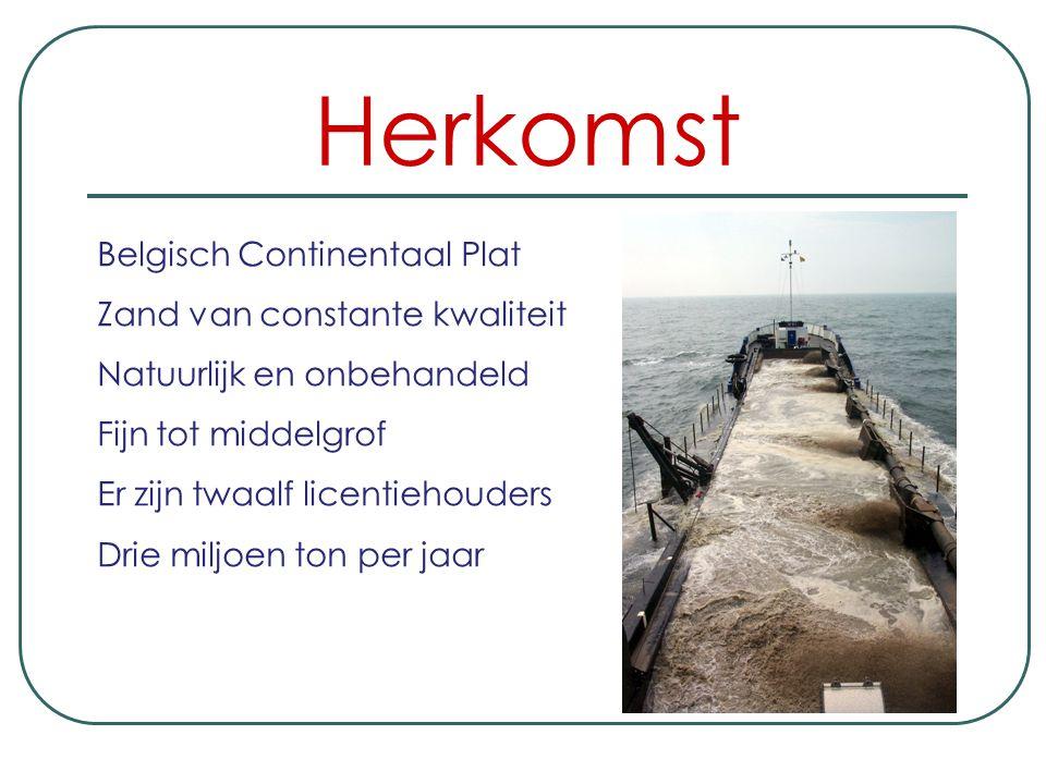 Herkomst Belgisch Continentaal Plat Zand van constante kwaliteit