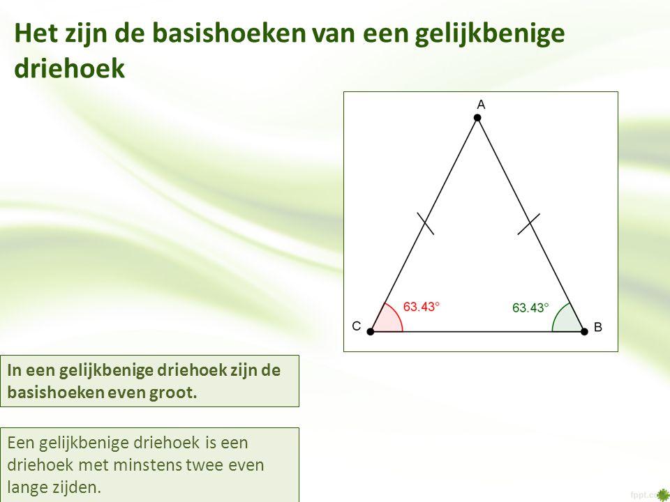 Het zijn de basishoeken van een gelijkbenige driehoek
