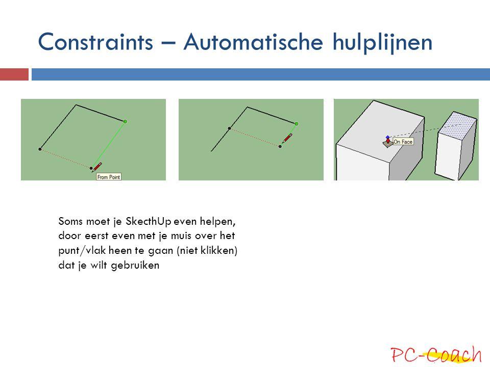 Constraints – Automatische hulplijnen