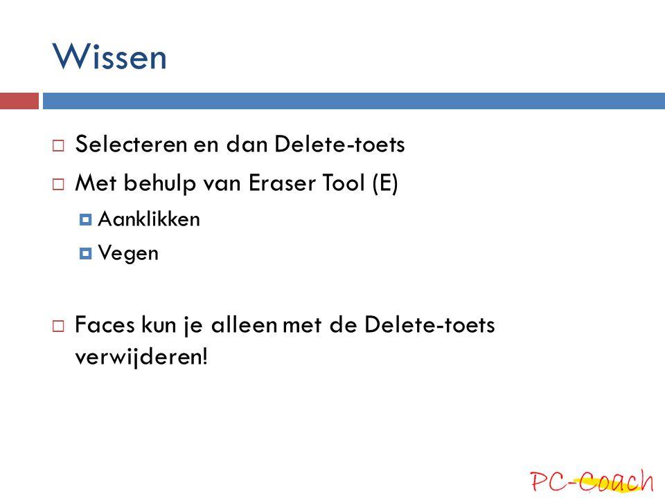 Wissen Selecteren en dan Delete-toets Met behulp van Eraser Tool (E)