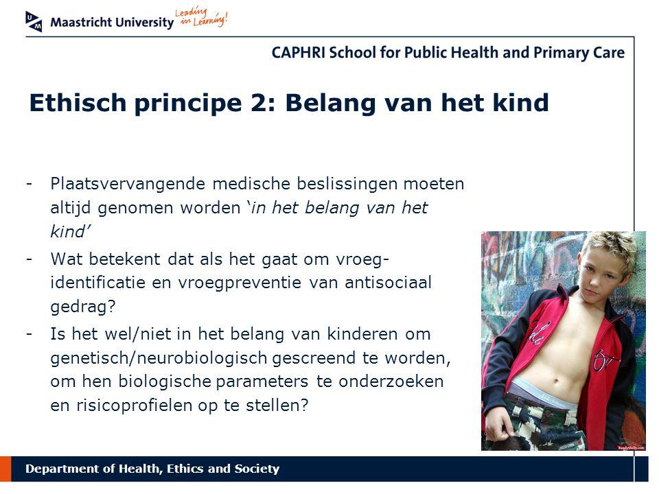 Ethisch principe 2: Belang van het kind