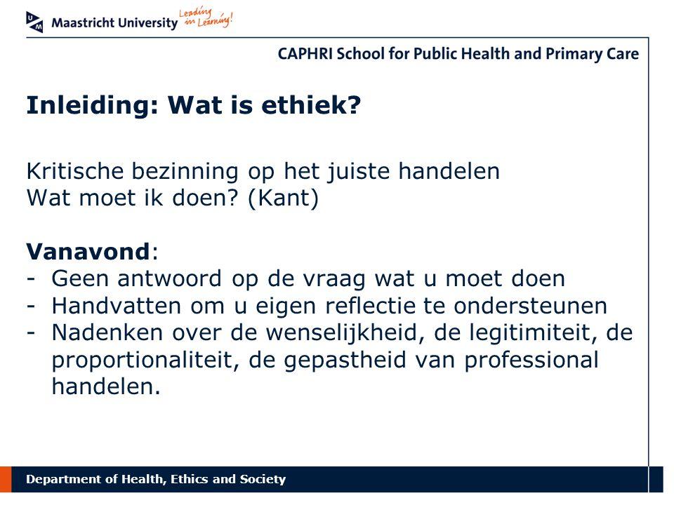 Inleiding: Wat is ethiek