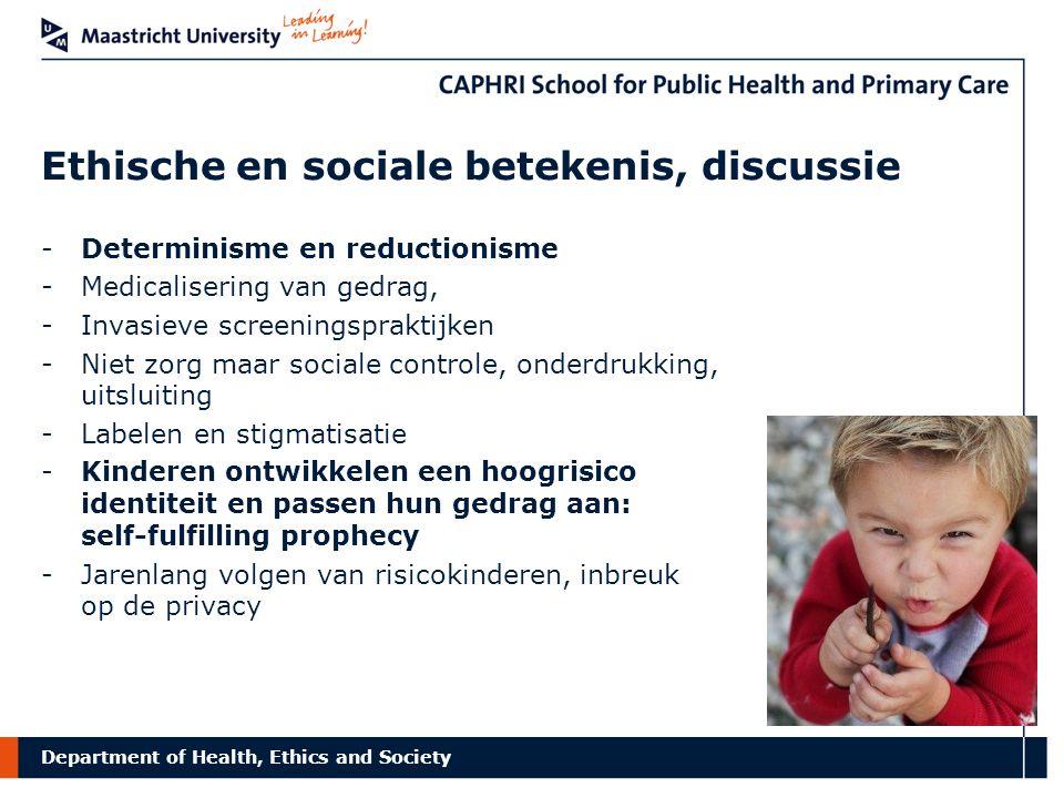 Ethische en sociale betekenis, discussie