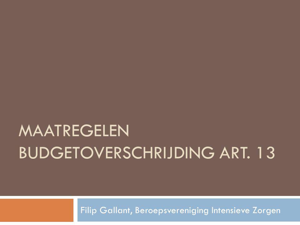 Maatregelen Budgetoverschrijding Art. 13