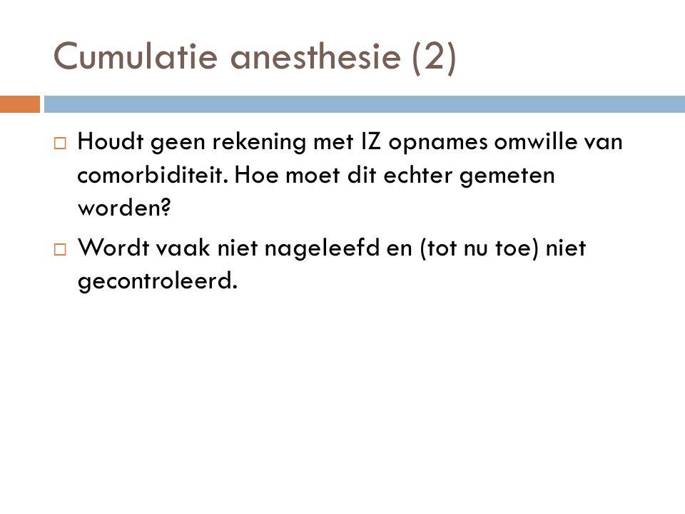 Cumulatie anesthesie (2)