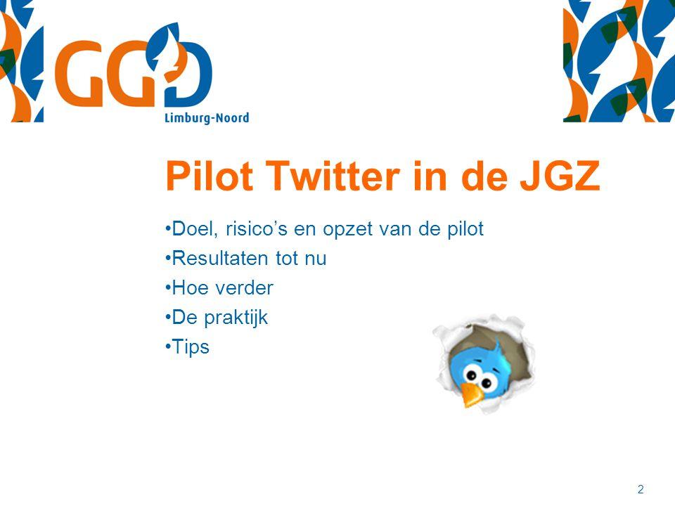 Pilot Twitter in de JGZ Doel, risico's en opzet van de pilot