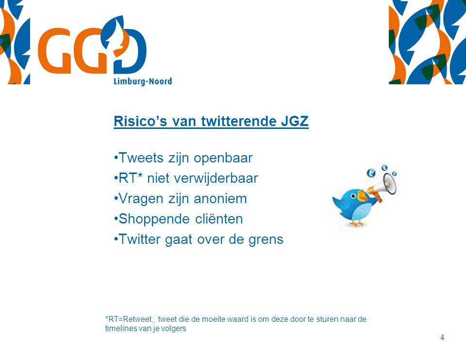 Risico's van twitterende JGZ