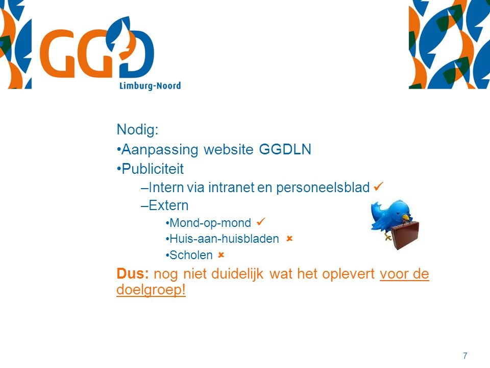 Aanpassing website GGDLN Publiciteit