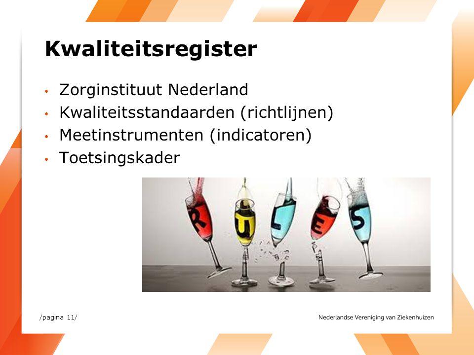 Kwaliteitsregister Zorginstituut Nederland