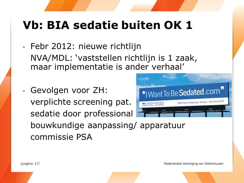 Vb: BIA sedatie buiten OK 1