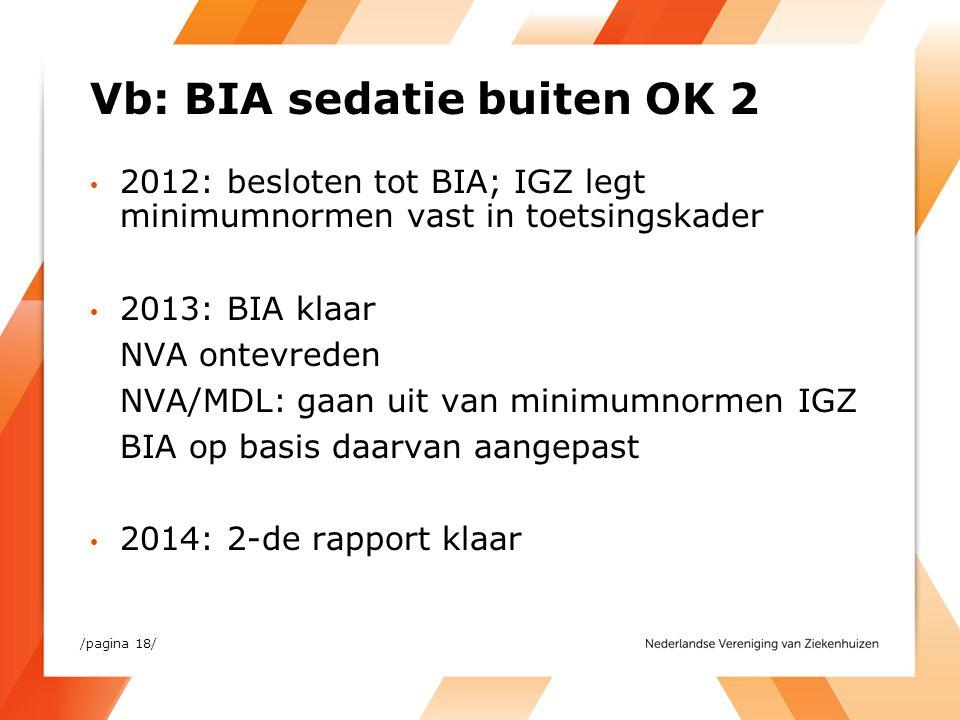 Vb: BIA sedatie buiten OK 2