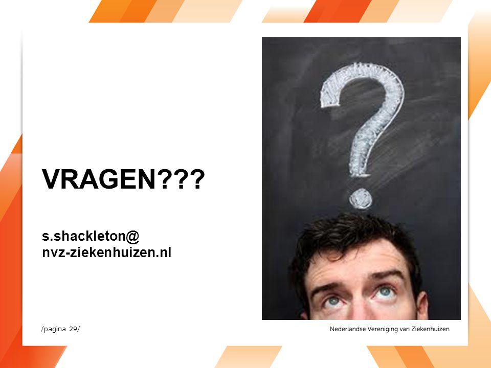 VRAGEN s.shackleton@ nvz-ziekenhuizen.nl