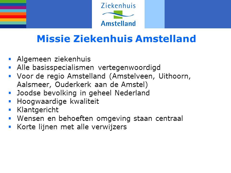 Missie Ziekenhuis Amstelland