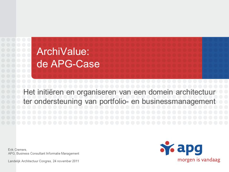 ArchiValue: de APG-Case