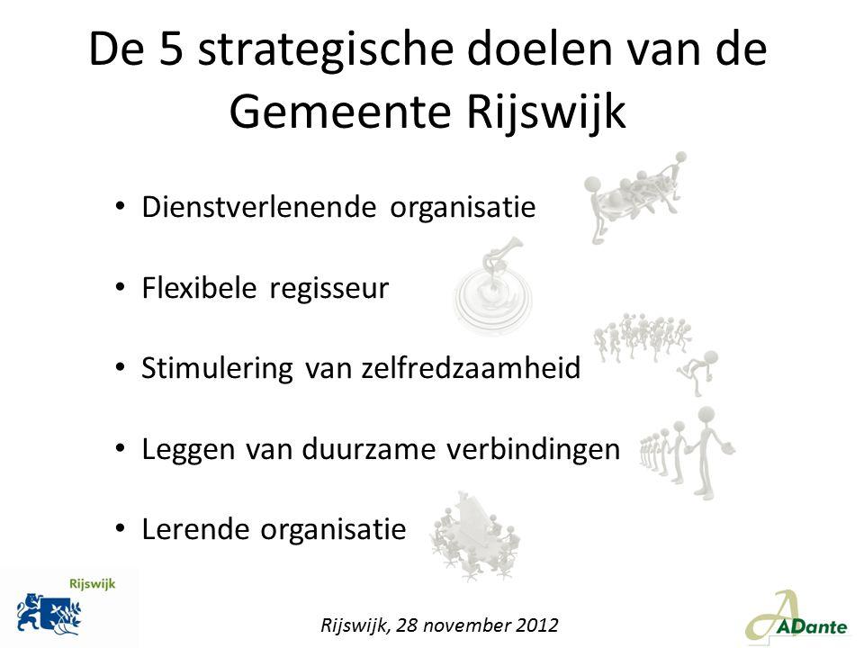 De 5 strategische doelen van de